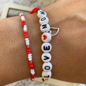 Love ❤️ MOM seeds macramé bracelet set